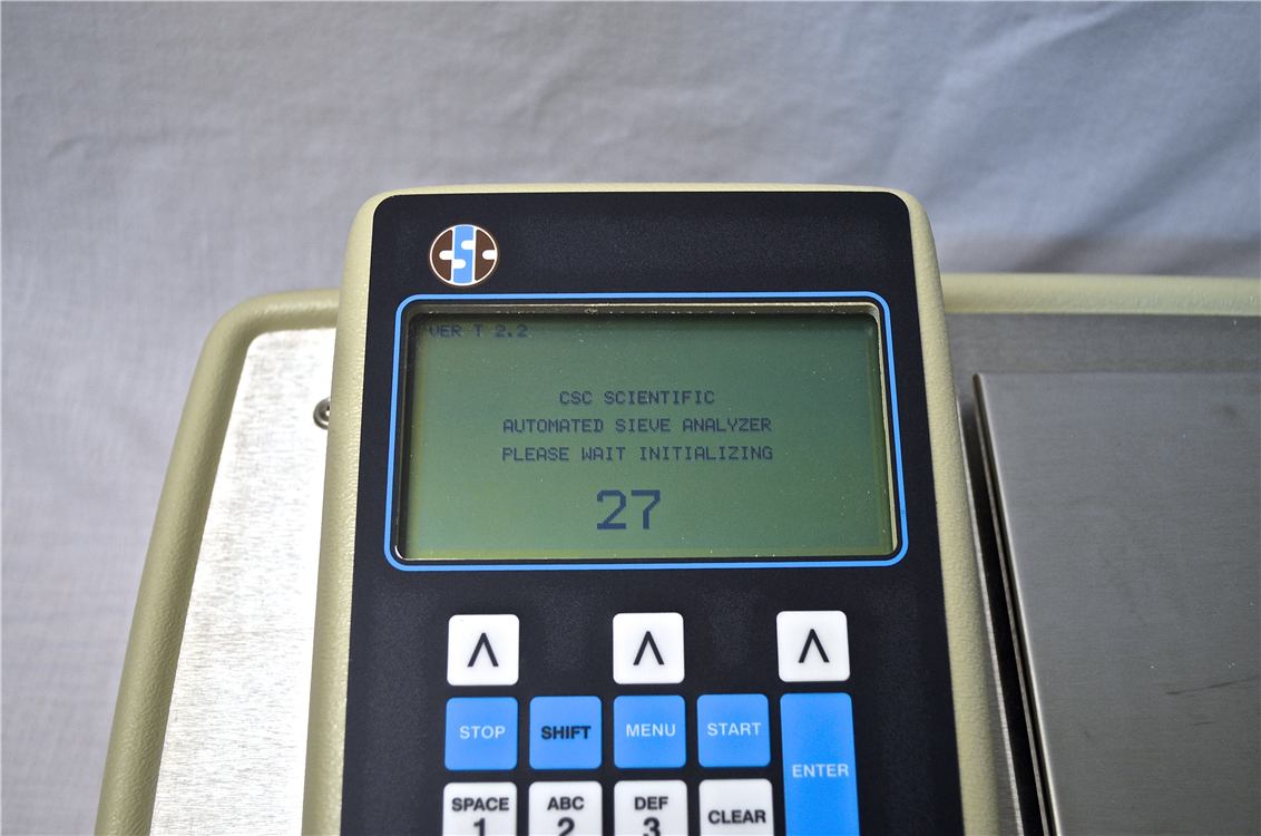 sieve analyzer main screen