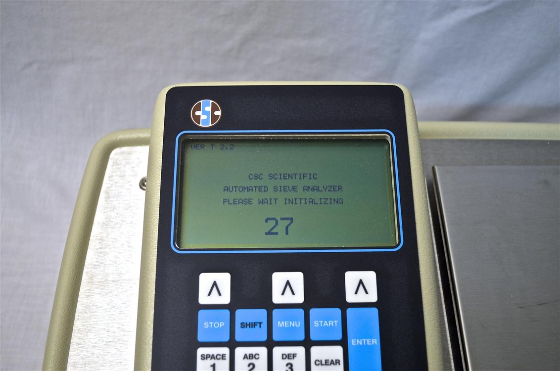 sieve analyzer main screen