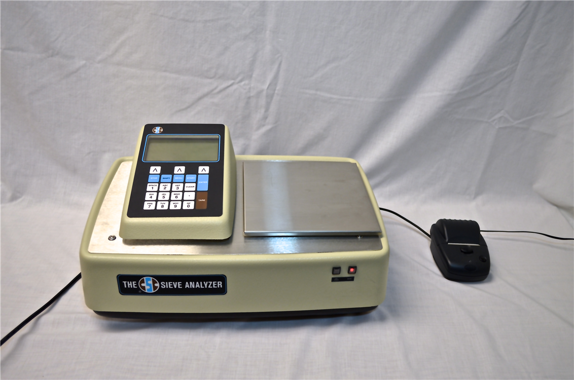 sieve analyzer with printer attachment