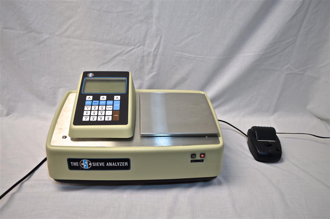 sieve analyzer with printer attachment