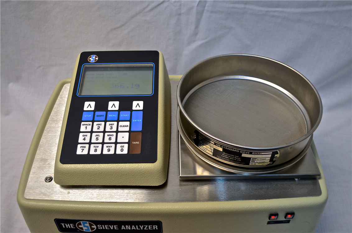 sieve analyzer with sieve