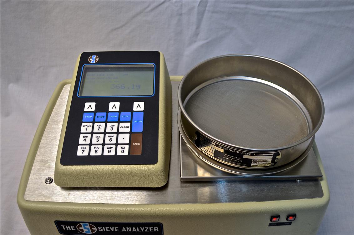sieve analyzer with sieve