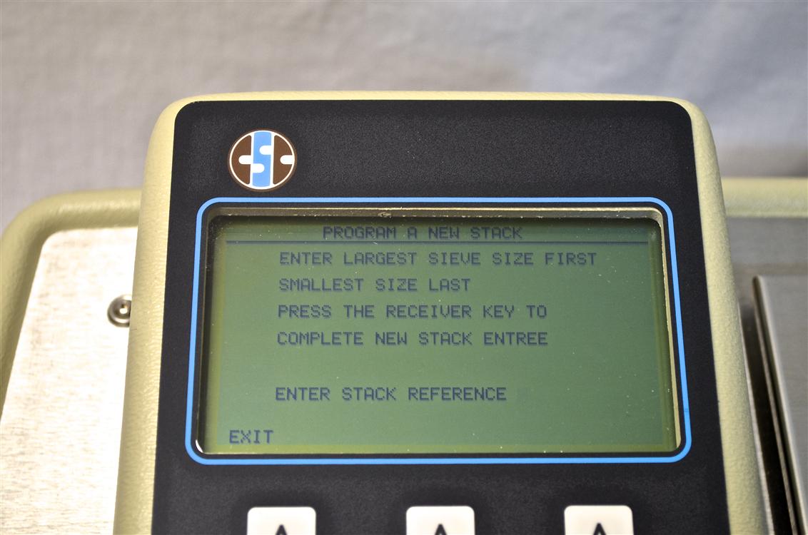 sieve analyzer screen step 1