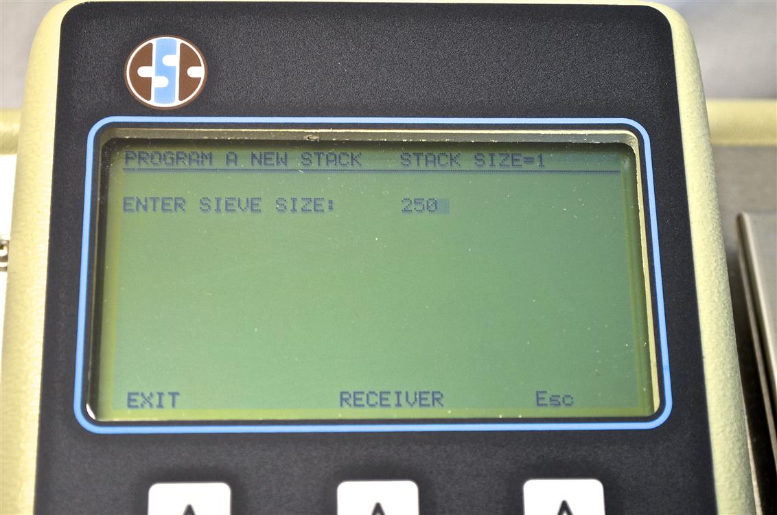 sieve analyzer screen step 2