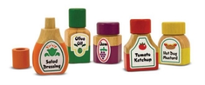 various condiments, salad dressing, ketchup