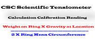 duNouy Tensiometer Calibration Formula