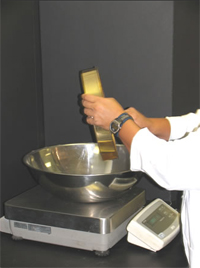 weighing sieve test results