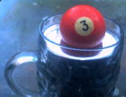 mercury with pool ball